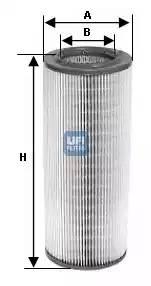 Фильтр воздушный, UFI, 2767600