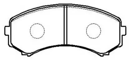 колодки тормозные передние 139.2*58.5