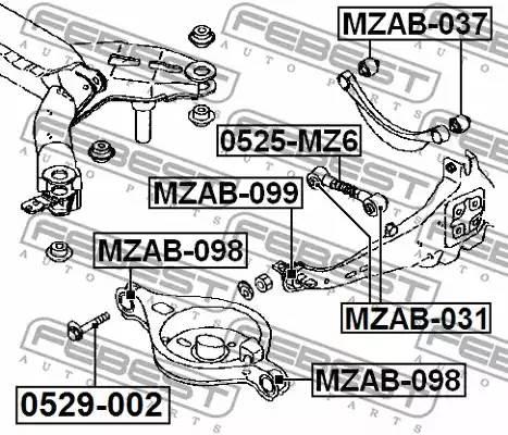 0529002 болт-эксцентрик Mazda 3 BM 13