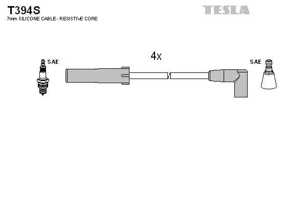 Провода в/в Tesla силикон ВАЗ 21214,Шеви-Нива моновпрыск!!! (T394S) Чехия