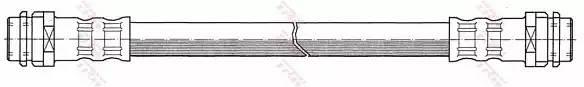 Тормозной шланг AUDI A1 (8X1) [2011 - ] TRW PHA341