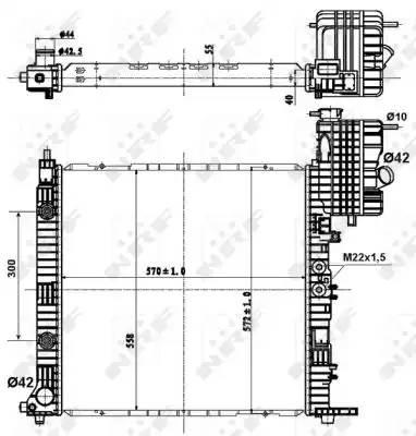 Радиатор двигателя MB V-Class 96-: