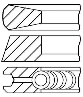 Комплект поршневых колец FORD FOCUS C-MAX [2003 - 2007] GOETZE ENGINE 08-114700-00