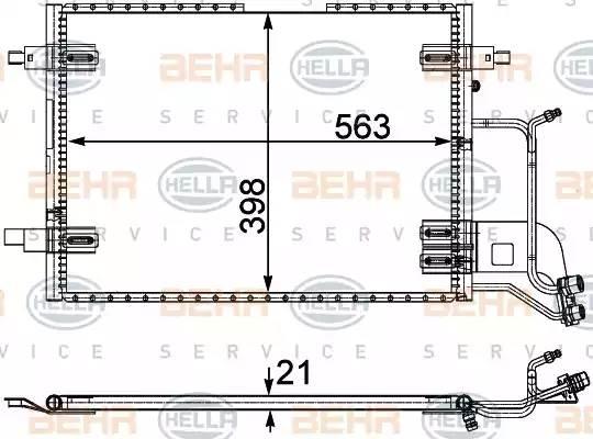 Радиатор кондиционера AUDI A4 (8D2, B5) [2000 - 2000] BEHR HELLA SERVICE 8FC 351 301-401