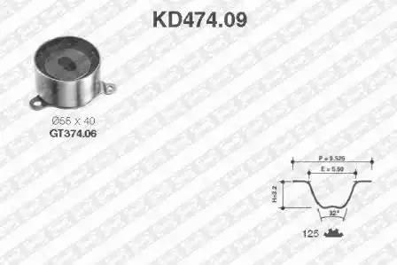 Ремкомплект ГРМ, SNR, KD47409