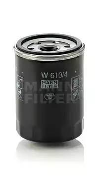 Фильтр масляный, MANN, W6104
