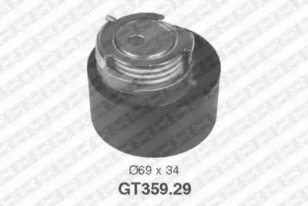Ролик натяжной ремня ГРМ, SNR, GT35929