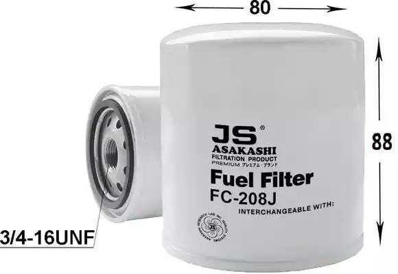 FC208J фильтр топливный Toyota Land Cruiser 3.0D/4.0D/TD 74-89