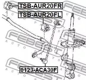 4881528210/ TSBAUR20FR Втулка стаб. передн. Febest