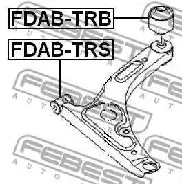 FDAB-TRB сайлентблок рычага зад. Ford Transit 00