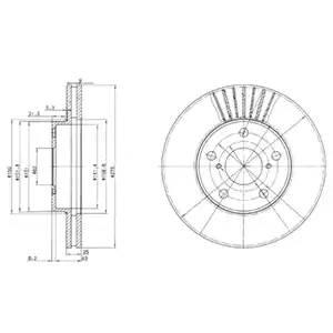 Диск тормозной передний (275,2х25,1) 5 отв TO RAV4 1.8, ZCA25, 1ZZ-FE, 00-06: 2.0, ACA20/ACA21, 1AZ-FE, 00-06, 2.0D-4D, CLA20/CLA21, 1CDFTV, 01-06::::