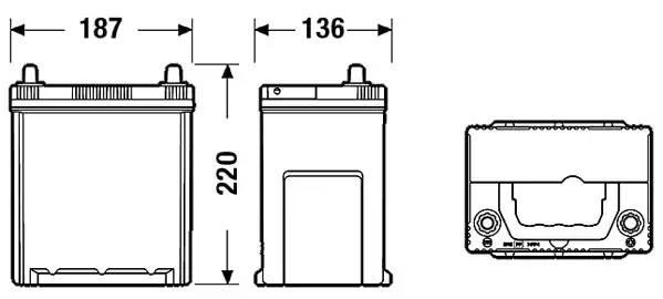 Батарея аккумуляторная, 12В 38А/ч