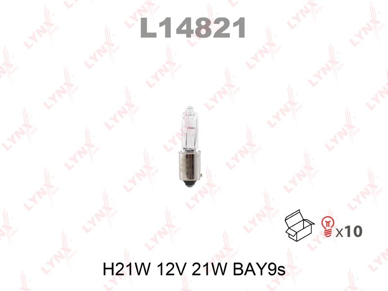 Лампа 12V H21W BAY9S LYNX L14821