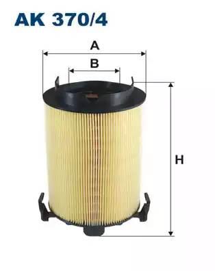 Фильтр воздушный, FILTRON, AK3704