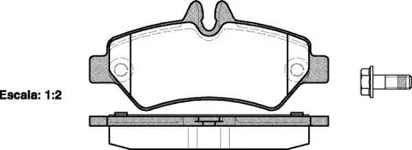 Колодки тормозные задние 906 309-315 CDI