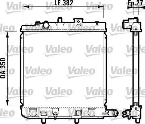 732726 VALEO Радиатор, охлаждение двигателя