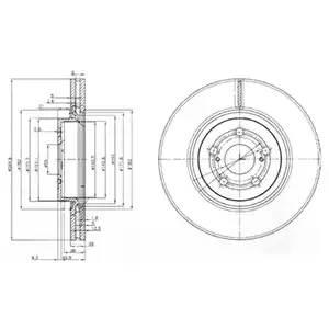 Диск тормозной передний (295х26) 5 отв TO Avensis 2.0i, AZT250, 1AZ-FSE, 03-09: 2.0D-4D, CDT250, 1CDFTV, 03-06, 2.0D-4D, AD250, 1ADFTV, 06-09: 2.4i, AZT251, 2AZ-FSE, 03-05::::