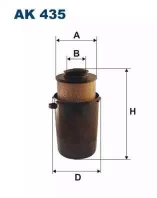 Фильтр воздушный, FILTRON, AK435
