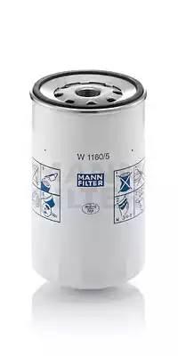 Фильтр масляный, MANN, W11605
