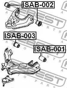 ISAB002 сайлентблок переднего верхнего рычага Great Wall Hover 05