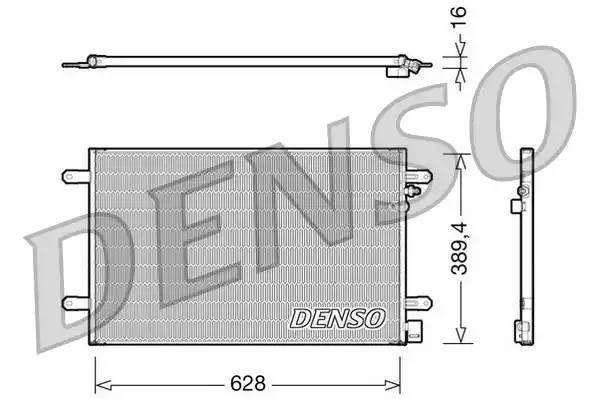 Радиатор кондиционера AUDI A6 (4F2, C6) [2008 - 2011] DENSO DCN02017