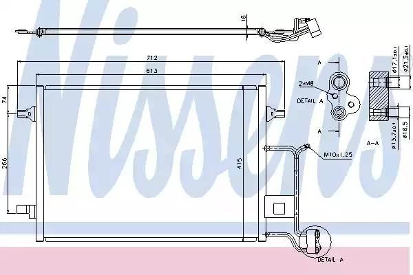 Радиатор кондиционера AUDI A4 (8D2, B5) [2000 - 2000] NISSENS 94601