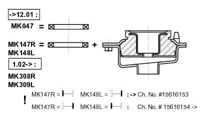 подшипник опорный переднего амортизатора (металл)