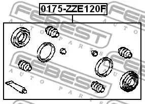 0447902080/ 0175ZZE120F Р/комплект суппорта Febest