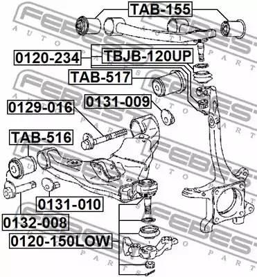 4865460050/ TAB516 С/блок п/ниж рычага пер FEBEST