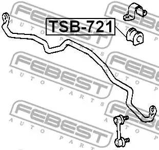 4881542020/ TSB721 Втулка стабилизатора Febest