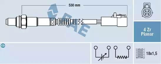 датчик кислородный 1,4-1,6 (после катализатора) FORD