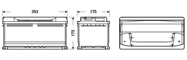Батарея аккумуляторная, 12В 85А/ч