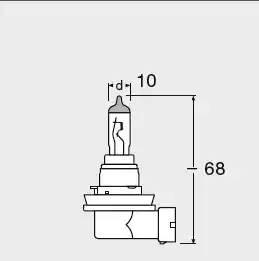 Лампа накаливания, 'Original Line H16' 12В 19Вт, 1шт