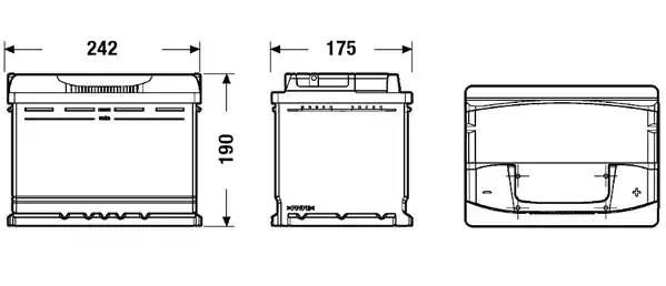 Батарея аккумуляторная, 12В 64А/ч