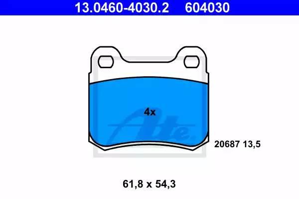 Колодки дисковые, ATE, 13046040302