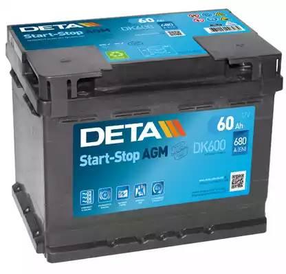 DETA 60Ah 680A R+