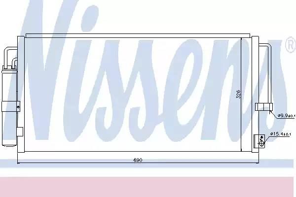 Радиатор кондиционера SUBARU IMPREZA седан (GD, GG) [2000 - ] NISSENS 94884