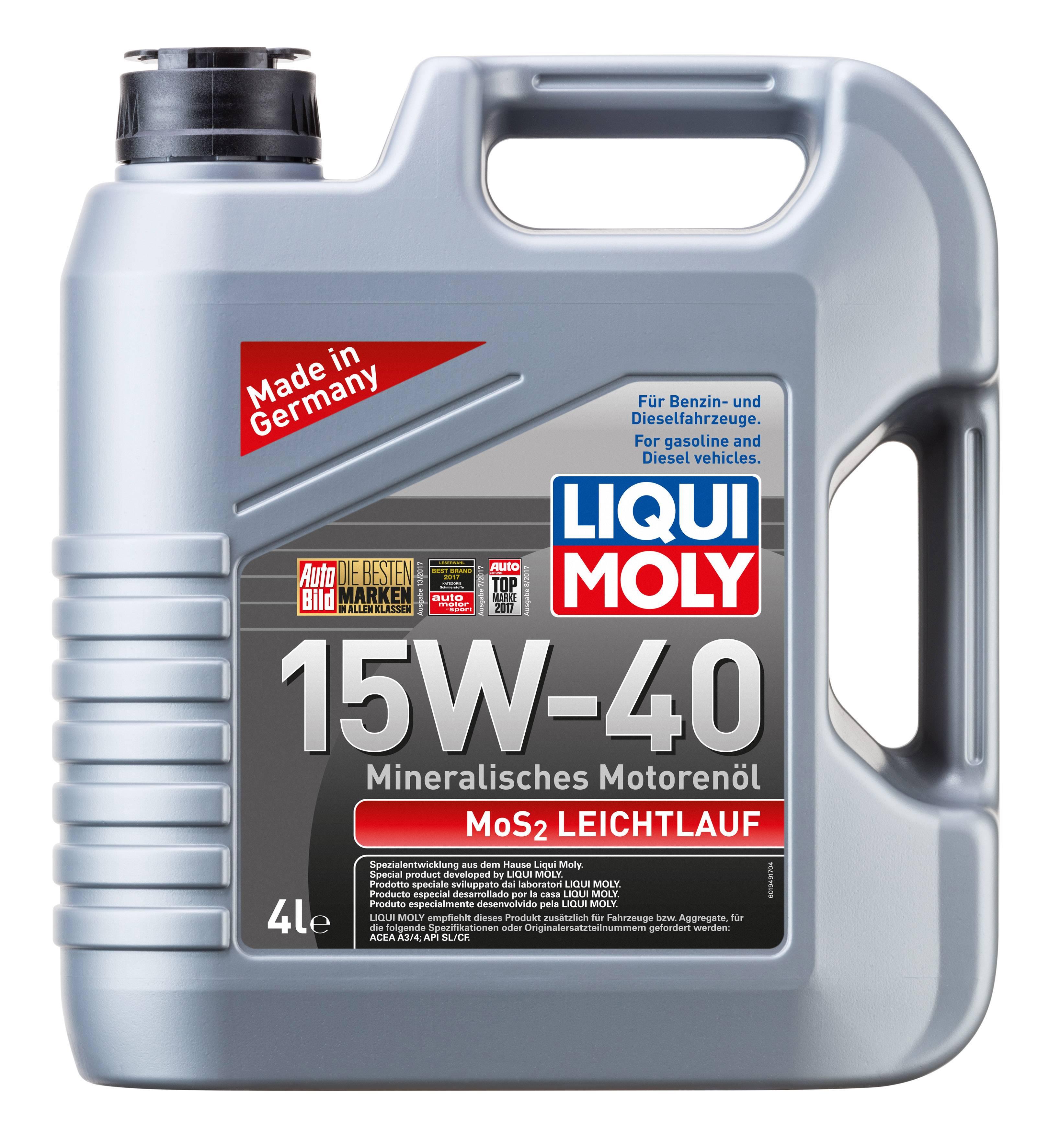 Liqui Moly MoS2 Leichtlauf SAE 15W-40