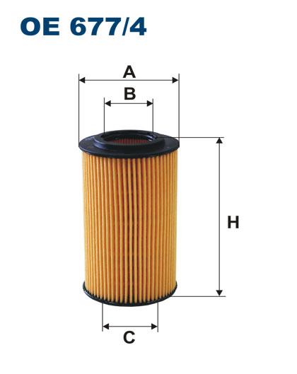 OE 677/4 фильтр масляный MB W204/W212/X204 08 oe6774