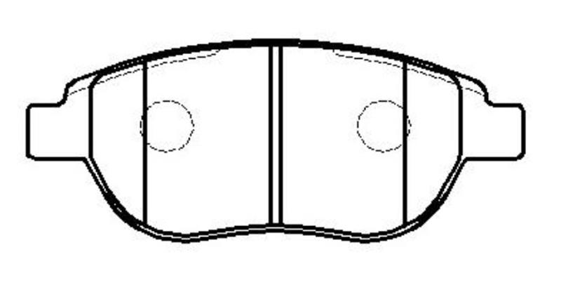 CKPU-36 колодки дисковые передние Peugeot 307, Citroen Xsara 1.6-2.0/HDi 00 ckpu36