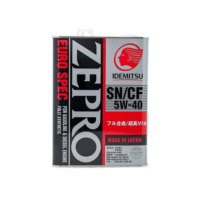 "Масло моторное ""IDEMITSU Zepro Euro Spec SN/CF 5W-40"", 4л"
