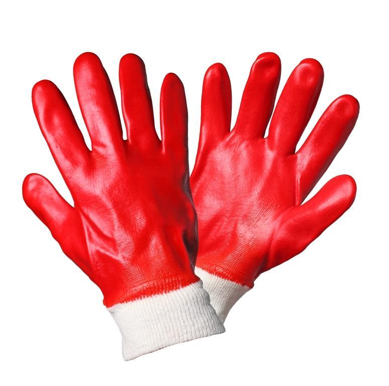 Перчатки маслобензостойкие (МБС) с полным ПВХ покрытием (AWG-O-04)