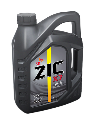 "Масло моторное ""ZIC X7 5W-40 API SN; ACEA A3/B4/B3"", 4л"