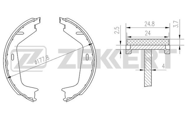 колодки тормозные ручника S60/S80/V70/XC90
