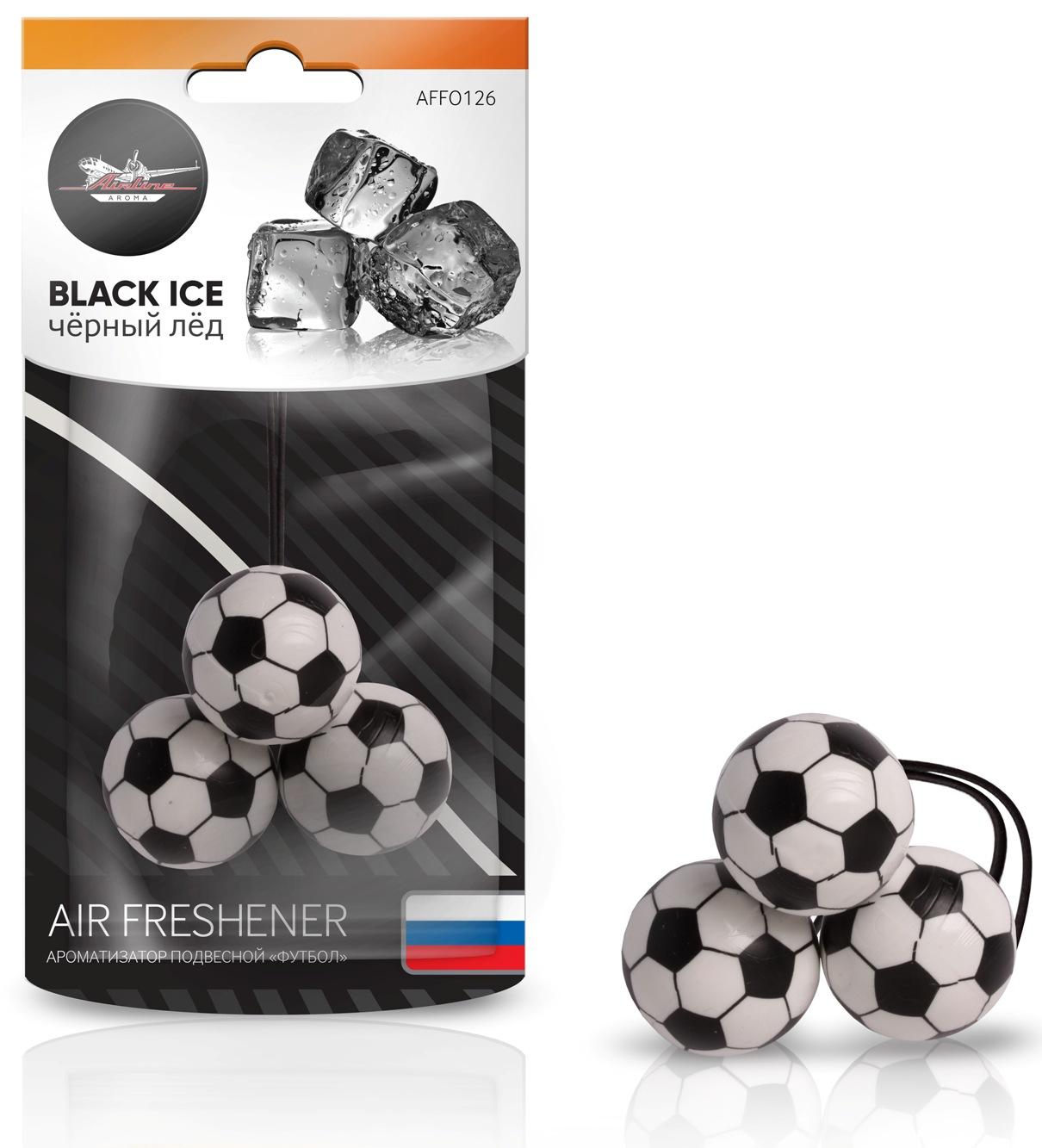 Ароматизатор подвесной Футбол черный лед (AFFO126)