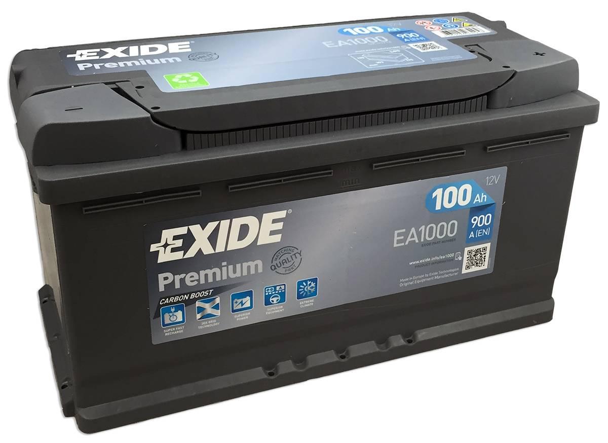 Аккумулятор Premium 100Ah 900A 353x175x190 (-+)  на все Спринтеры