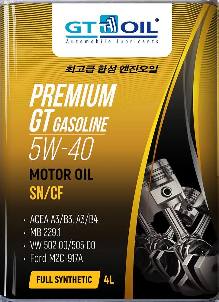 """Масло моторное синтетическое """"Premium GT Gasoline 5W-40"""", 4л"""