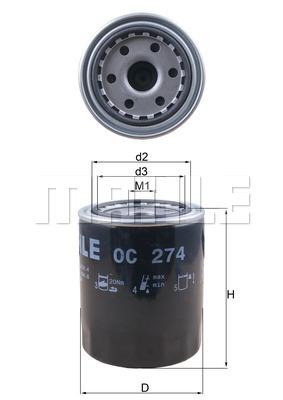 Фильтр масляный (10) L200 NEW MAHLE / KNECHT