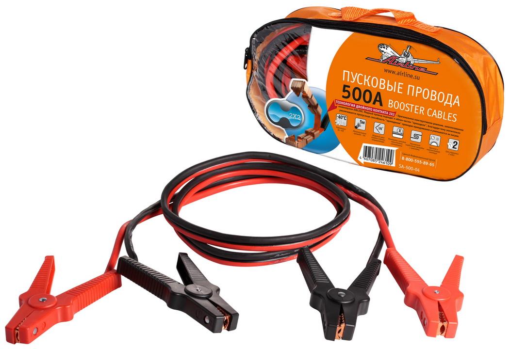Провода прикуривания 500А в сумке (5м, 12/24В) (SA-500-04)