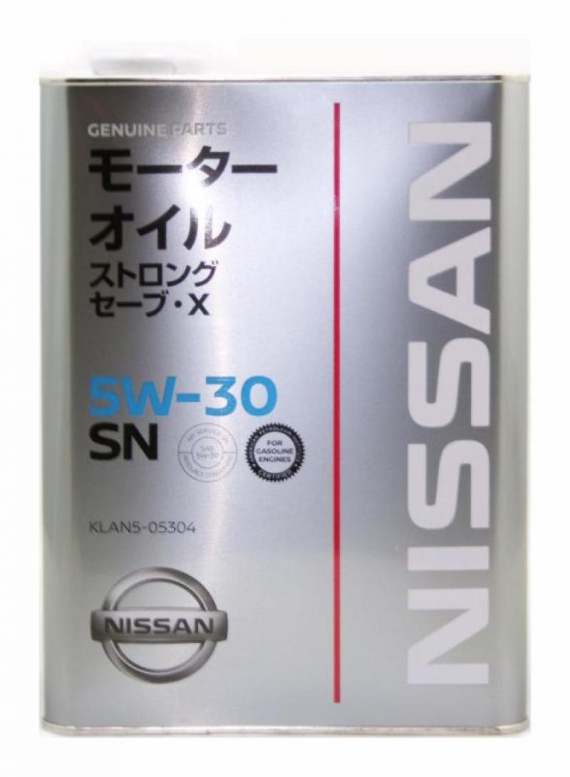 """Масло моторное """"NISSAN STRONG SAVE X 5W-30 SN"""", 4л"""